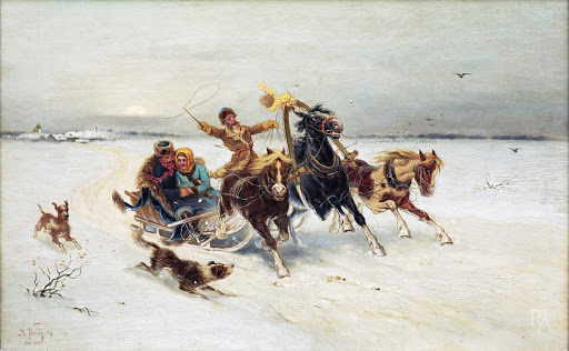 a russian troika sled